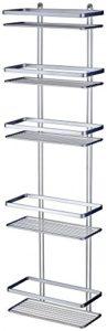 Schmales Regal Bad - DUSCHY 5 Etagen Duschregal ♥ Regalsystem ♥ ohne Bohren mit Glaskantenschonern