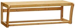 Schmale Regale fürs Bad - Relaxdays 10014070 Badregal Bambus mit Ablage und Handtuchhalter 60 cm