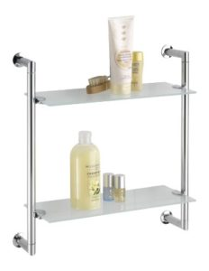 Badezimmer Wandregal - WENKO 17772100 Wandregal Style mit 2 Glasablagen ♥  Badregal ♥ Stahl ♥ Chrom