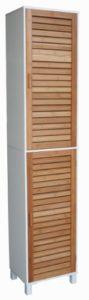 Badregale Weiß - Badregal Bad Hochschrank ♥ 190cm Wandschrank ♥ Bambus Holz ♥ weiß