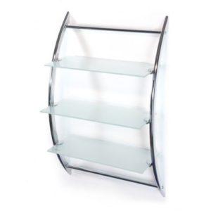 Badezimmer Wandregal - Hochwertiges Badregal-Wandregal-Badregal ♥ Wandregal ♥ ♥ Glasregal mit 3 Glasablagen